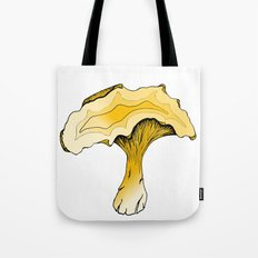 Chanterelle Mushroom, Hand drawn, Pen and Ink, Food, Nature Tote Bag