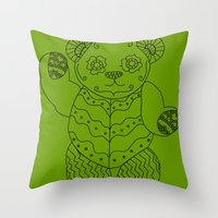 Bear of the Day Throw Pillow