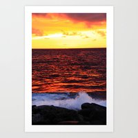 Red Red Sunset Art Print