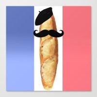 Monsieur Baguette Canvas Print