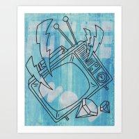 FUTURE ! WOW ! Art Print