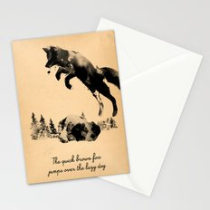 The quick brown fox jumps over the lazy dog Stationery Cards