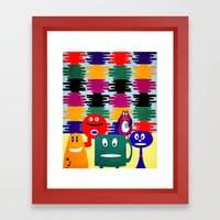 shade of color Framed Art Print