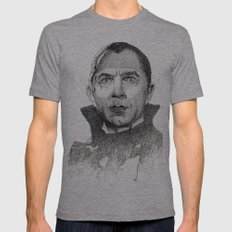 Dracula Bela Lugosi Mens Fitted Tee Athletic Grey SMALL