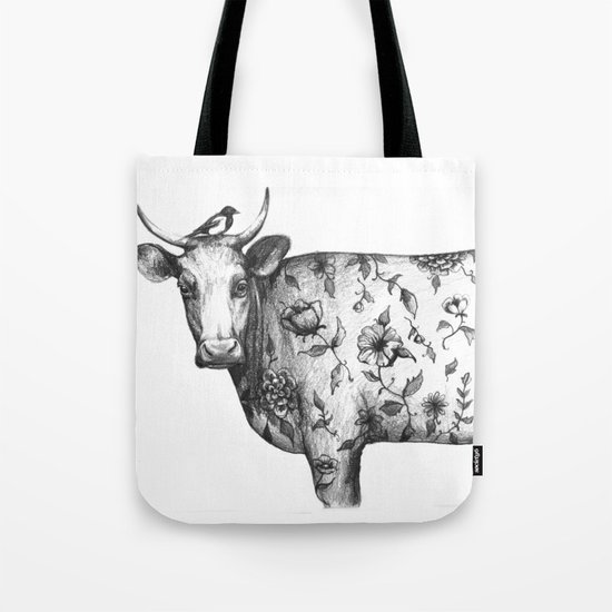 The Bird and the tattooed Cow Tote Bag