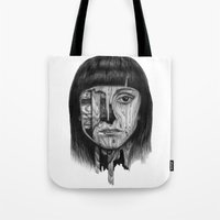 Wood Girl Tote Bag