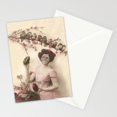Mademoiselle skull Stationery Cards