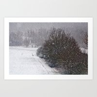 Snow Is Falling Art Print