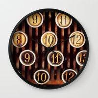 Vintage Numbers Wall Clock