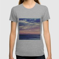 Blue And Pink Womens Fitted Tee Athletic Grey SMALL