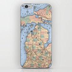 Michigan Railroad Map iPhone & iPod Skin