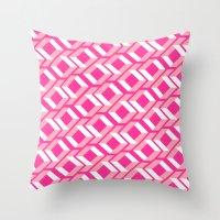 Pink Pattern Throw Pillow