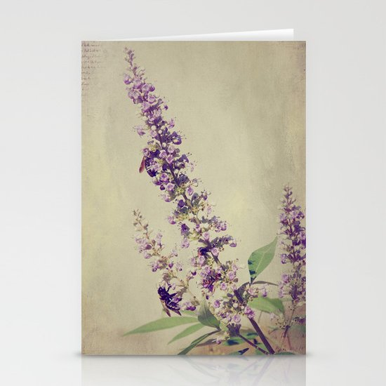 Texas Lilac and Bees Stationery Card