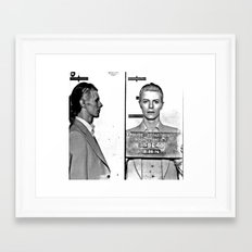 Bowie, David Mugshot (1976) Rochester, N.Y. Framed Art Print