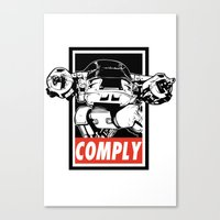 OBEY ED-209 Canvas Print