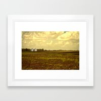 An Open Field Framed Art Print