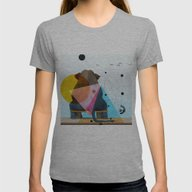 ELEPHANT Womens Fitted Tee Athletic Grey SMALL
