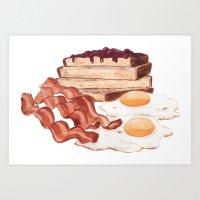 Breakfast Time Art Print