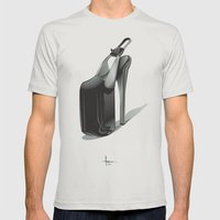 SLAVE To FASHION Mens Fitted Tee Silver SMALL