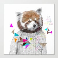 RED PANDA By Jamie Mitch… Canvas Print