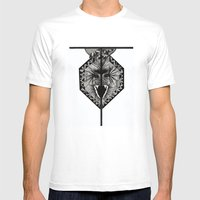 Letter T Mens Fitted Tee White SMALL