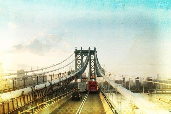 New York Rising 04 _ manhattan bridge Art Print