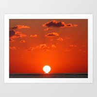 Sea Sunset Art Print