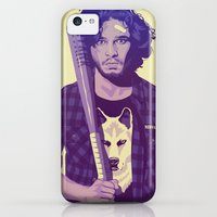 iPhone 5c Cases featuring GAME OF THRONES 80/90s ERA CHARACTERS - Jon Snow by Mike Wrobel