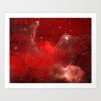 Electric Red Art Print