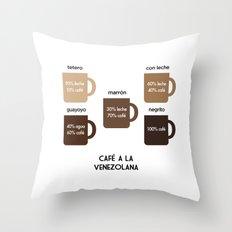 Café a la Venezolana Throw Pillow