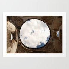 Antigua, Guatemala. Collapsed Cathedral. Art Print