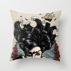Pirate Queen (Color) Throw Pillow