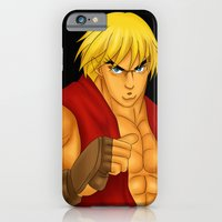 iPhone & iPod Case featuring Ken Street Fighter by jasonarts