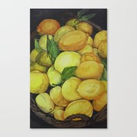 Everybody Needs a Zest of Lemony Canvas Print