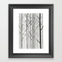 Pattern Trees Framed Art Print