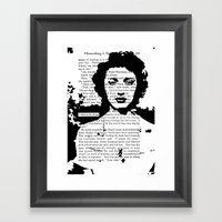 I Wish To Be Alone Framed Art Print