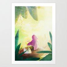 Jollie Pollie Birdie Art Print