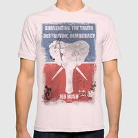 SUBVERTING THE TRUTH  Mens Fitted Tee Light Pink SMALL