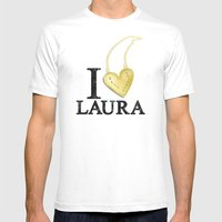 I Love Laura Mens Fitted Tee White SMALL