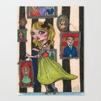Pogo Stick Girl Canvas Print