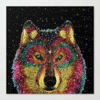 Cosmic Wild Animals Canvas Print