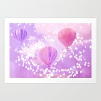 Carnival Hot Air Balloon… Art Print