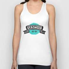 Stronger Every Day (dumbbell) Unisex Tank Top