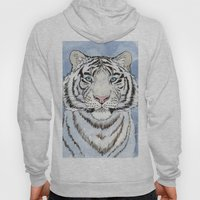 White Tiger In Blue A024 Hoody