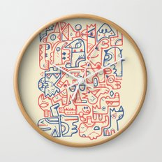 Tribal Animals Wall Clock