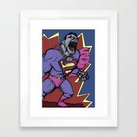 Bizarro Superman! Framed Art Print