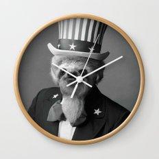 Life as an American Sloth Wall Clock