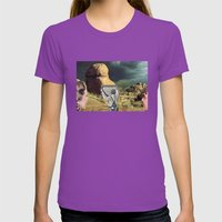 Trying To Change Nature,… Womens Fitted Tee Ultraviolet SMALL