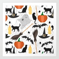 halloween Art Prints featuring Halloween by Julia Badeeva