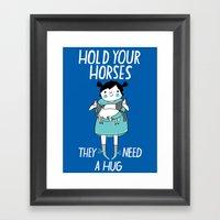 Hold Your Horses Framed Art Print